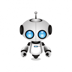 Customized chatbot with blue eyes